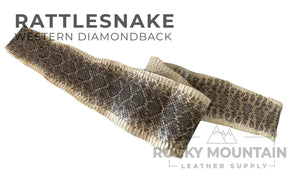 Western Diamondback Rattlesnake - Exotic Leather Hides - 1.5oz (0.6mm)