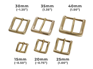 "Belt Buckles - Italian  ""Explorer"" Single Prong (Solid Brass)"