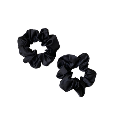 Large Satin Scrunchie - Black