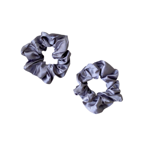 Large Satin Scrunchie - Grey