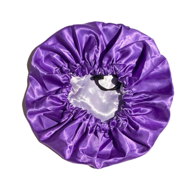 Adjustable Satin Bonnet - Lavender/Lilac