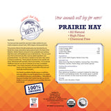 Certified Organic Prairie Grass Hay for Small Animals - 15oz