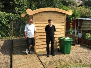 disabled assess composting toilet