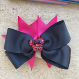Handmade Black/Pink Minnie Mouse Bow