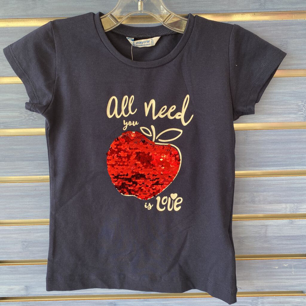 Girl's Mayoral All You Need Is LOVE T-Shirt