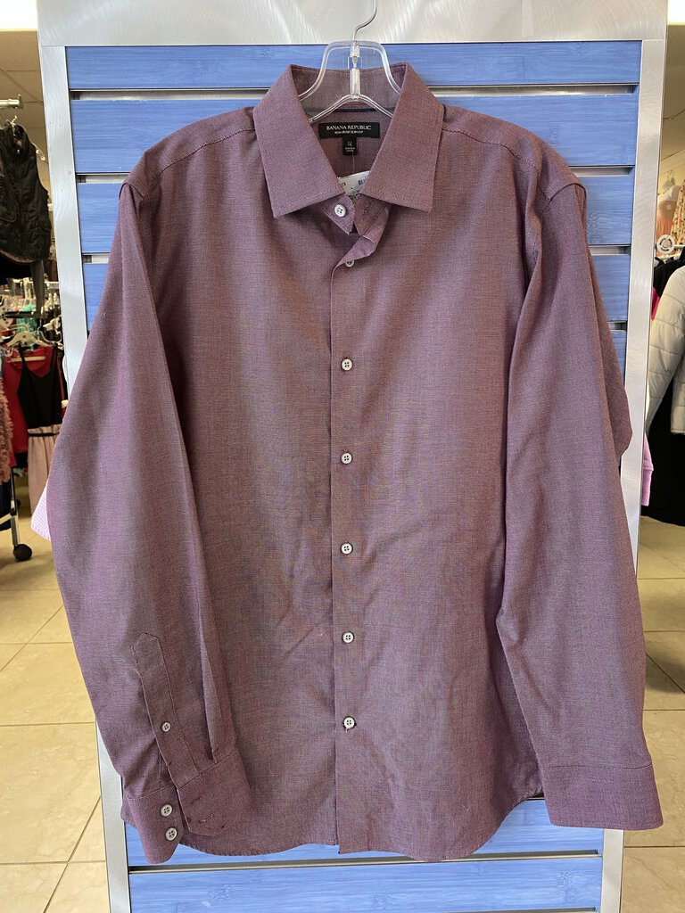 Mens Banana Republic Long Sleeve Collared Dress Shirt
