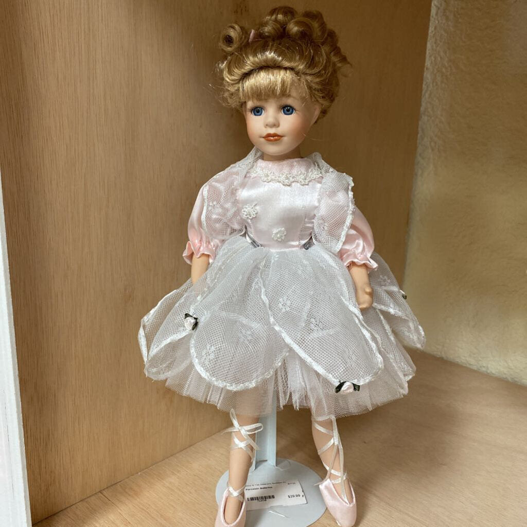 Porcelain Ballerina w/ Stand