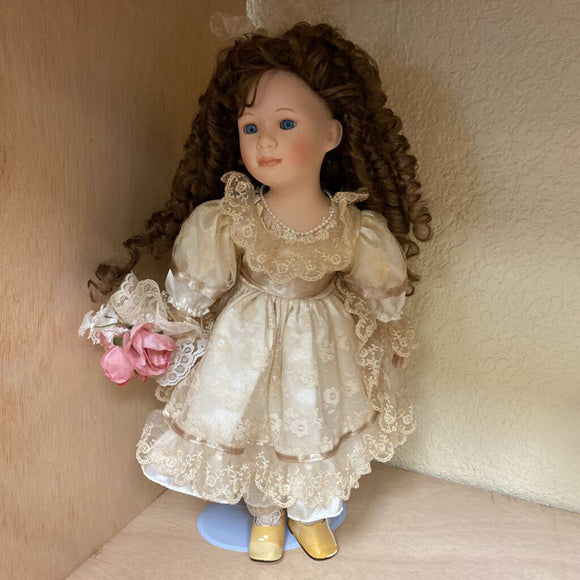 Porcelain Doll w/ Stand