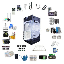 Load image into Gallery viewer, Black Dog LED 3.3' x 3.3' x 6.5' Complete LED Grow Light Kit