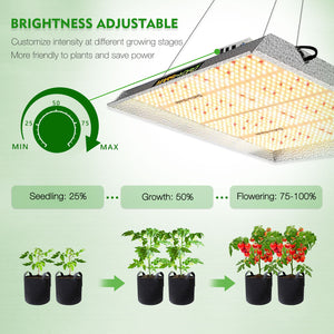 Mars Hydro TS3000 Indoor Full Spectrum 450W 4ftx4ft 5ftx5ft coverage LED Grow Lights
