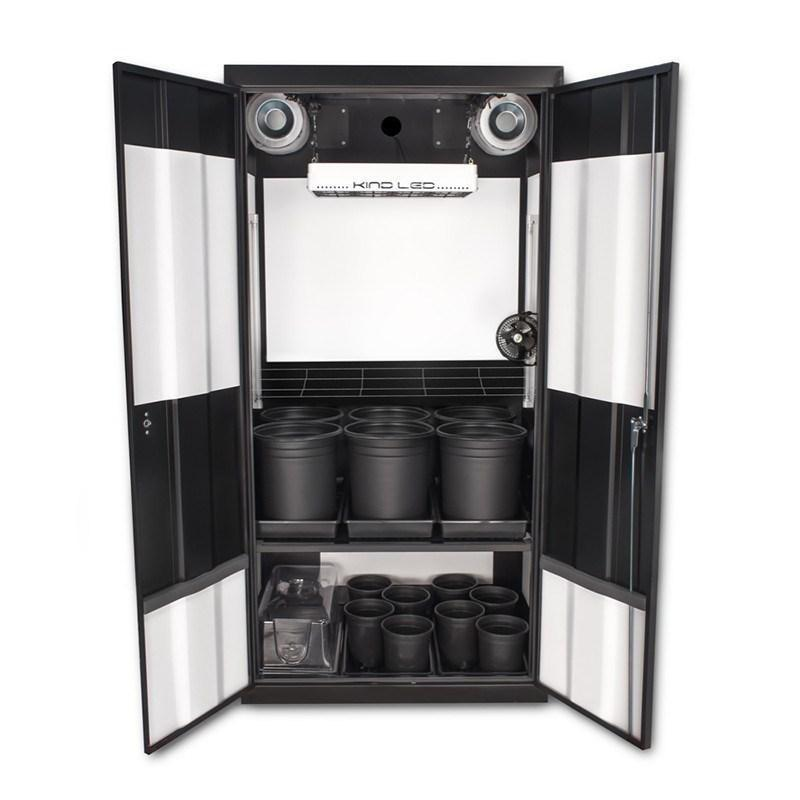 SuperCloset Deluxe 3.0 LED Soil Grow Cabinet 36