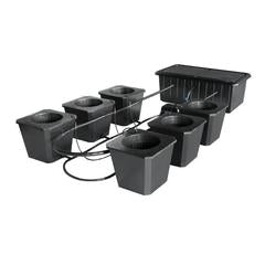 SuperCloset 6-Site Bubble Flow Buckets Hydroponic Grow System