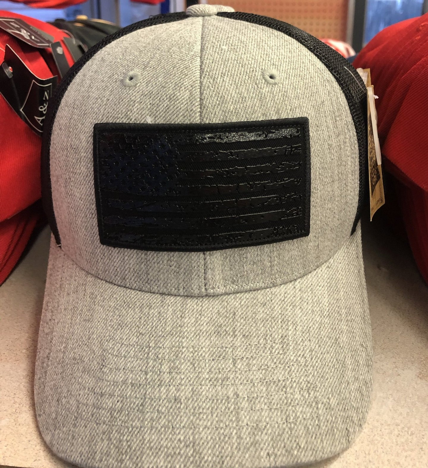NEW!! DISTRESSED BLACK FLAG - HAT