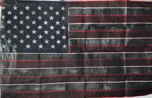 Load image into Gallery viewer, BLACK QUATER STITCHED 3x5ft FLAG