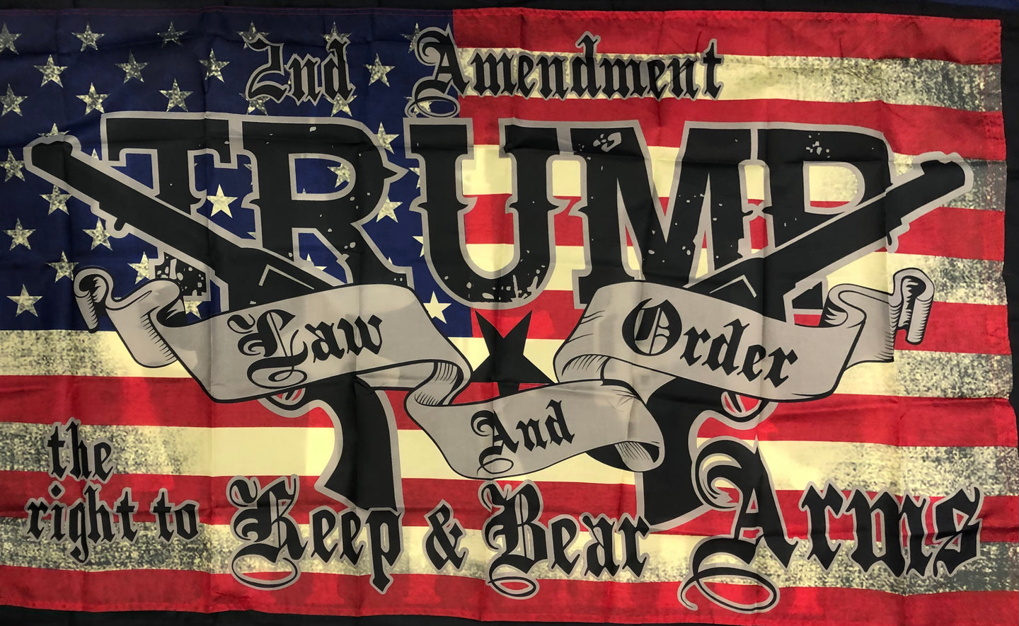 NEW!! TRUMP LAW AND ORDER - 3x5 FLAG