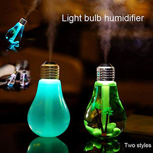 USB Air humidifier light bulb humidifier portable desktop LED 7 color night light humidifier