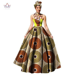 WOMENS AFRICAN DRESS DASHIKIS PRINT BALL GOWN PARTY DRESS PLUS SIZE
