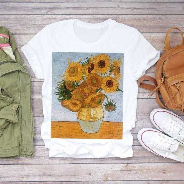 Women Clothing Online Store21  10 / M Women 2020 Summer Short Sleeve Floral Flower Fashion Lady T-shirts Top T Shirt Ladies Womens Graphic Female Tee T-Shirt