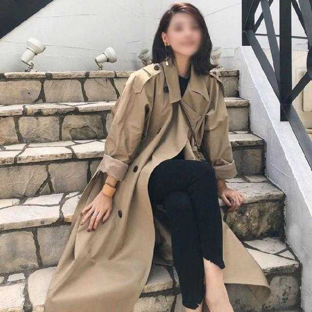 Women Clothing Online Store21  Khaki T063 / L / China Women  Spring Long Light Trench Coat