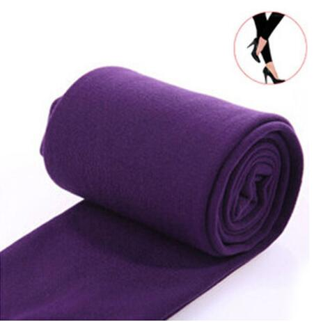 Women Clothing Online Store21  syle1 purple Woman thick warm leggings brushed Stretch Fleece Pants