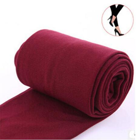 Women Clothing Online Store21  syle1 wine red Woman thick warm leggings brushed Stretch Fleece Pants