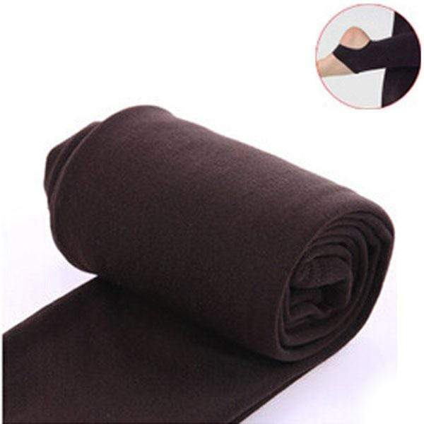 Women Clothing Online Store21  syle2 coffee Woman thick warm leggings brushed Stretch Fleece Pants