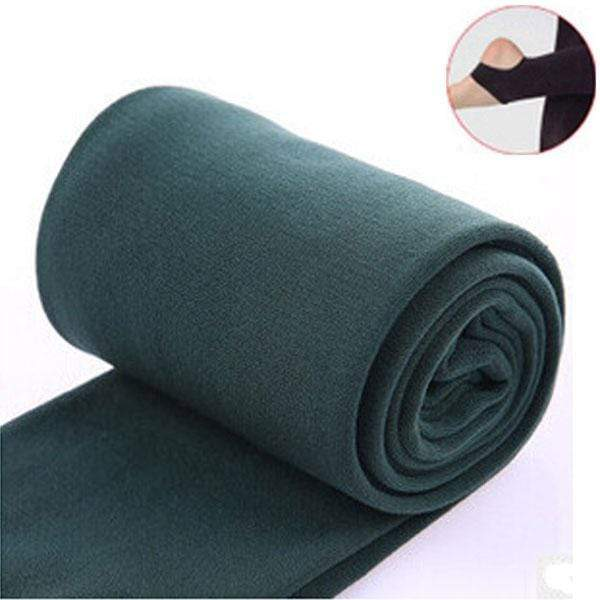 Women Clothing Online Store21  syle2 green Woman thick warm leggings brushed Stretch Fleece Pants