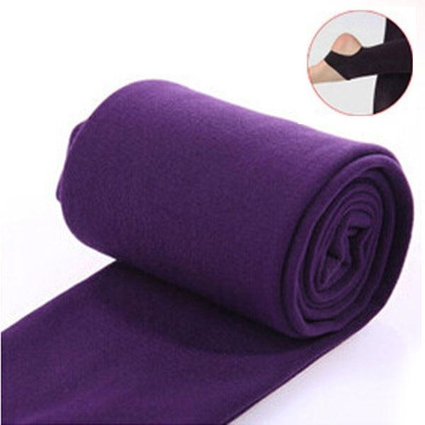Women Clothing Online Store21  syle2 purple Woman thick warm leggings brushed Stretch Fleece Pants