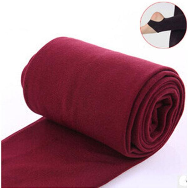 Women Clothing Online Store21  syle2 wine red Woman thick warm leggings brushed Stretch Fleece Pants