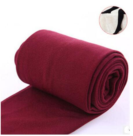 Women Clothing Online Store21  syle3 wine red Woman thick warm leggings brushed Stretch Fleece Pants