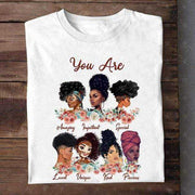 Women Clothing Online Store21  Y01219556 / M Afro Puff Hair Girl Print Melanin Poppin Shirt Women Summer 2021