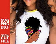 Women Clothing Online Store21  Y01219558 / M Afro Puff Hair Girl Print Melanin Poppin Shirt Women Summer 2021