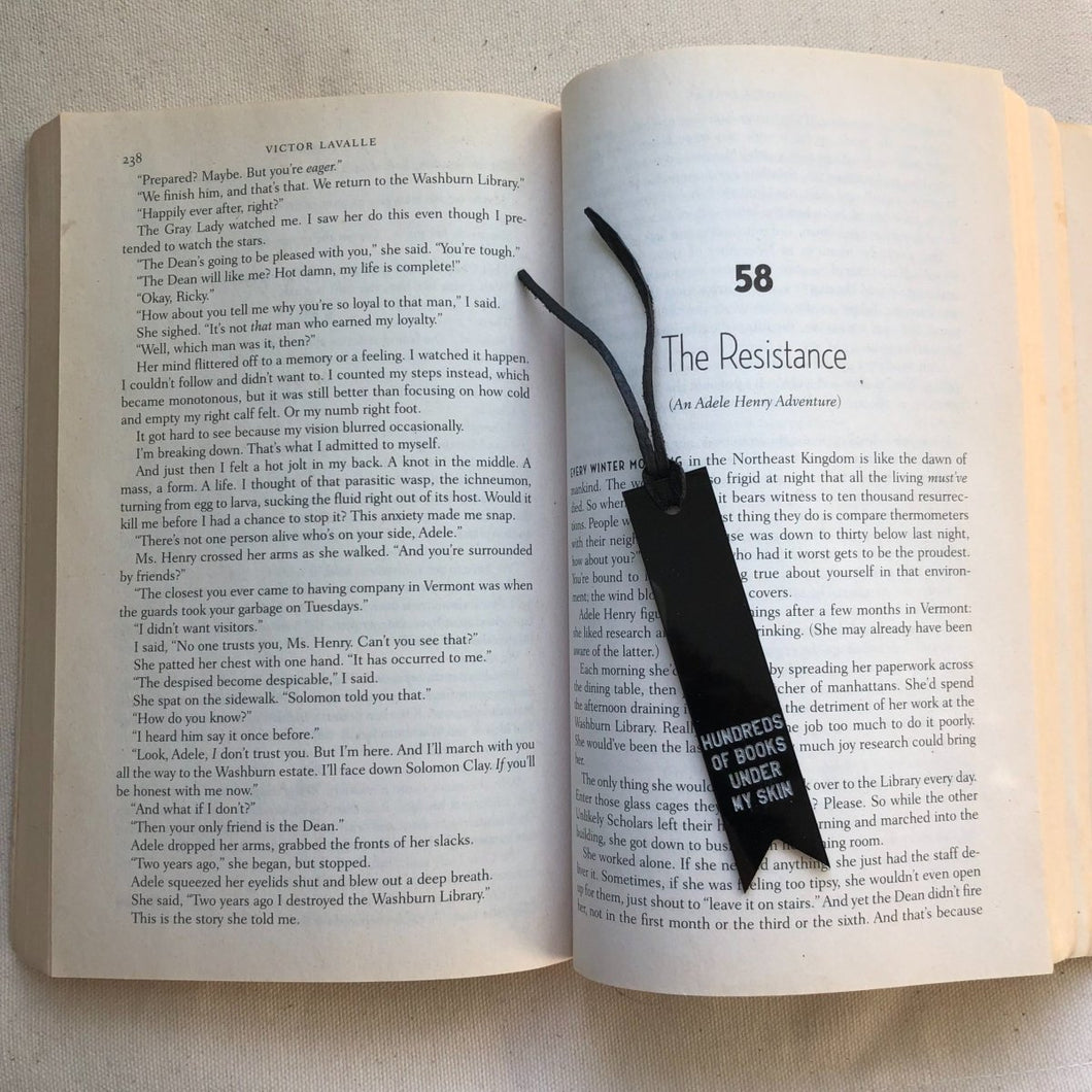 hundreds of books under my skin bookmark by rayo & honey