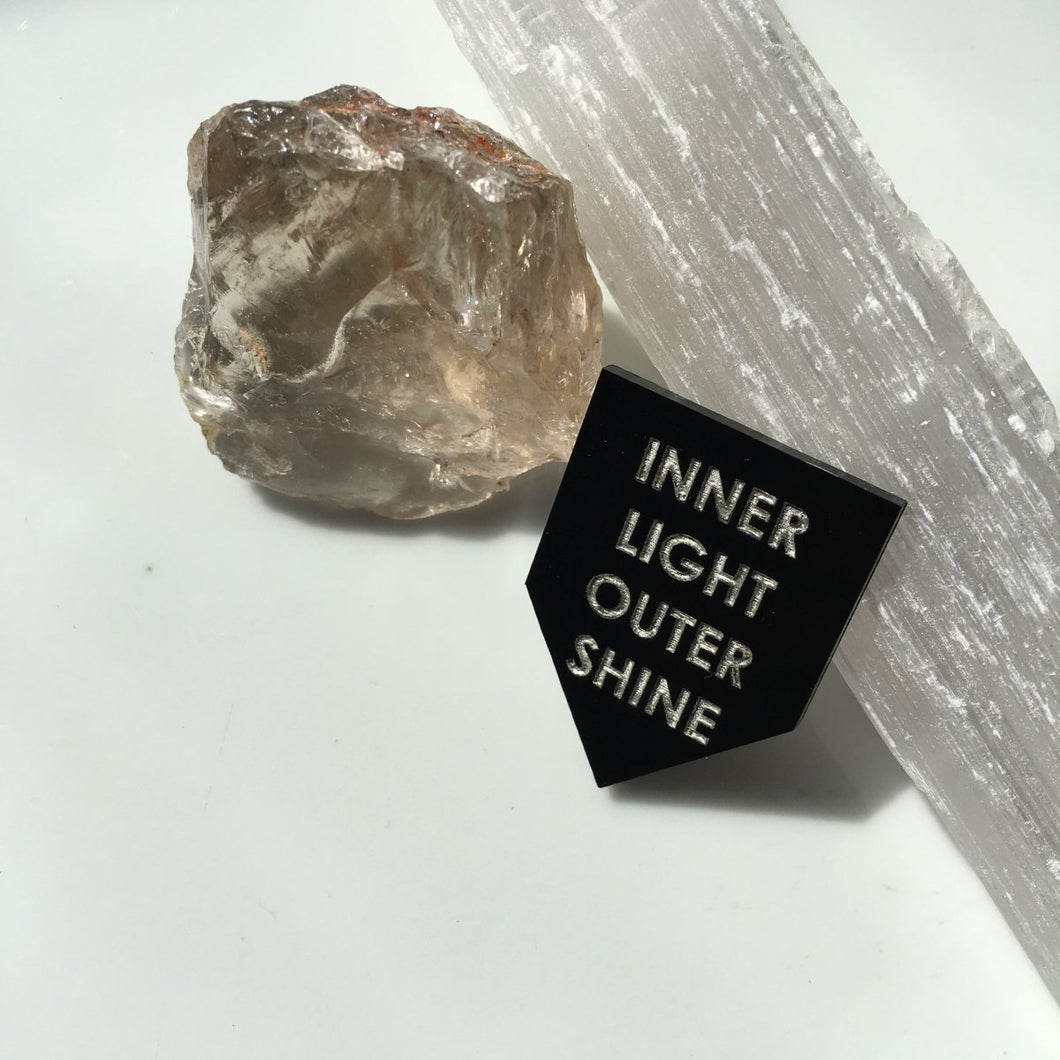 inner light outer shine pin by rayo & honey