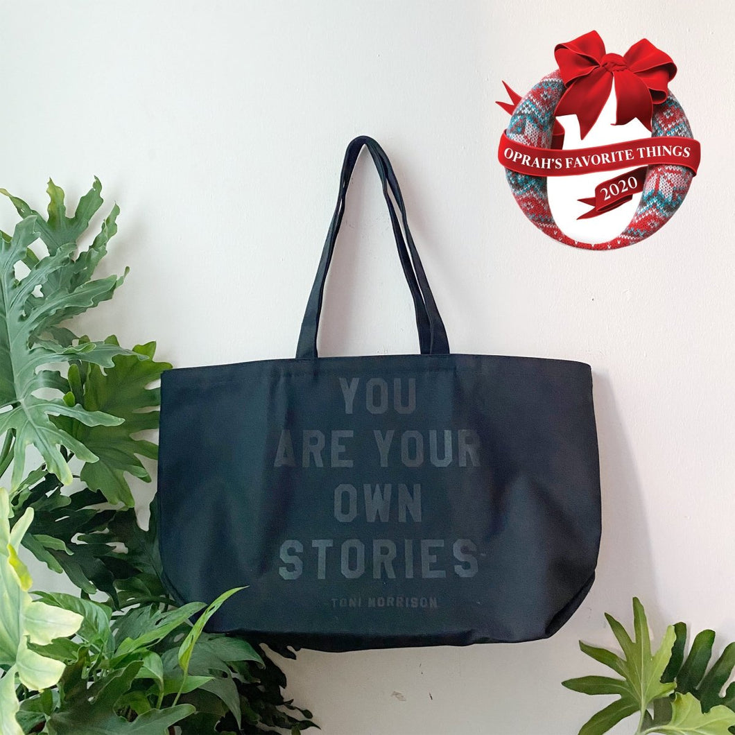 You Are Your Own Stories Black Tote by rayo & honey