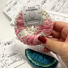 Load image into Gallery viewer, Eco friendly reusable crochet face scrubbies | 100% cotton | makeup removal pads | facial rounds | face cloth