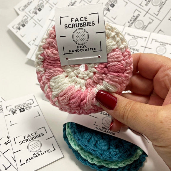 Eco friendly reusable crochet face scrubbies | 100% cotton | makeup removal pads | facial rounds | face cloth
