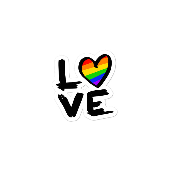 Love is Love | LGBTQ+ | Gay pride | Bubble-free stickers