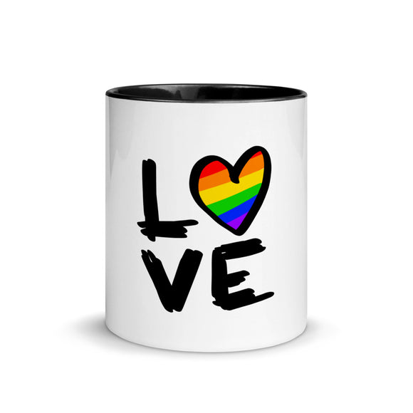 Love is Love | LGBTQ+ | Gay pride | Mug with Color Inside