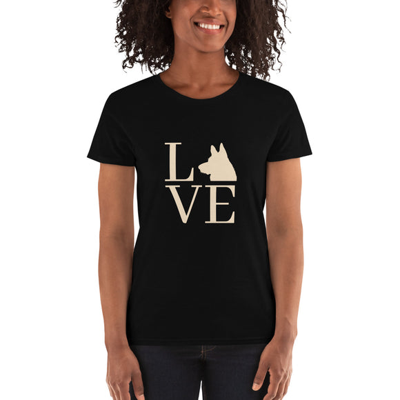 German Shepherd love | Women's short sleeve t-shirt