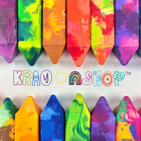 Rainbow Krayonstix™ / Set of 4 Crayon Sticks / Crayon Sticks Stocking Stuffer / Holiday Gift for Kids / Rainbow Crayon Sticks for Kids
