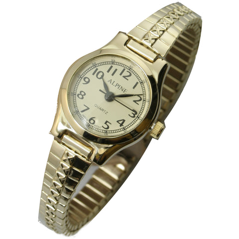 JAS  Watch - Metal Expansion Band - Slender -  Gold