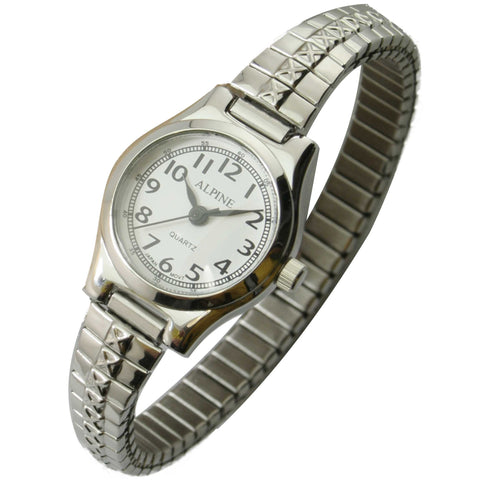 JAS  Watch - Metal Expansion Band - Slender -  Silver