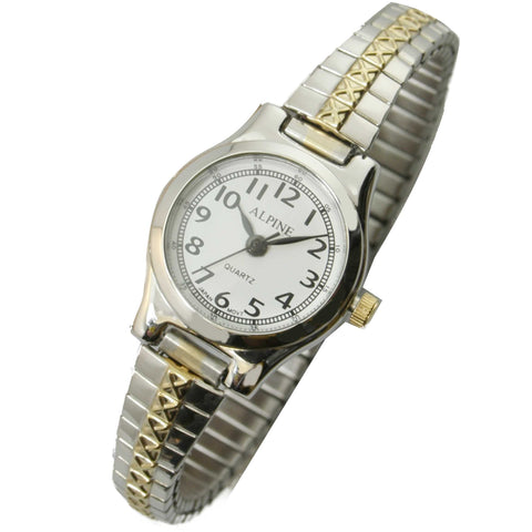 JAS  Watch - Metal Expansion Band - Slender - 2-tone