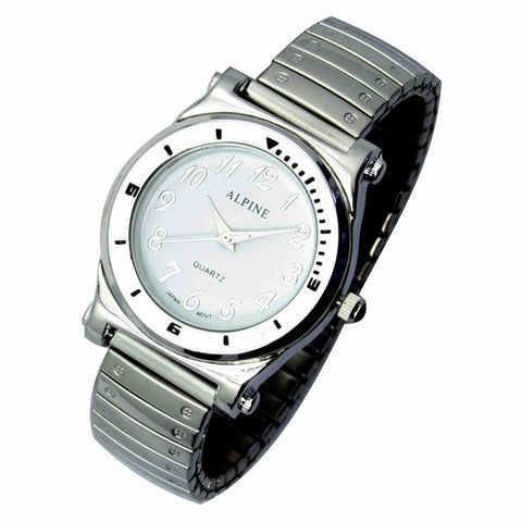 JAS  Watch - Metal Expansion Band - Bold - Silver