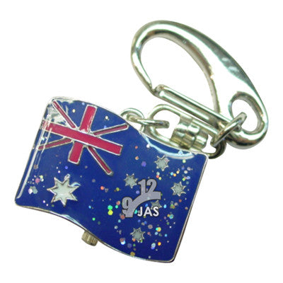 novelty fob watch - australia flag