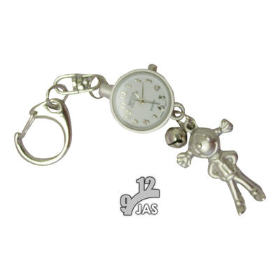 novelty fob watch - girl silver