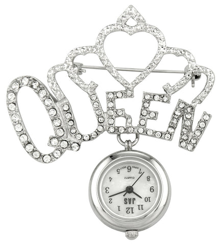 metallic fob watch - queen
