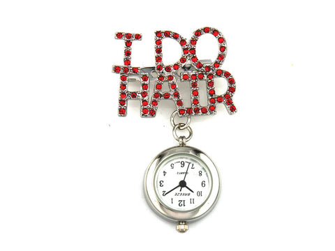 metallic fob watch - i do hair