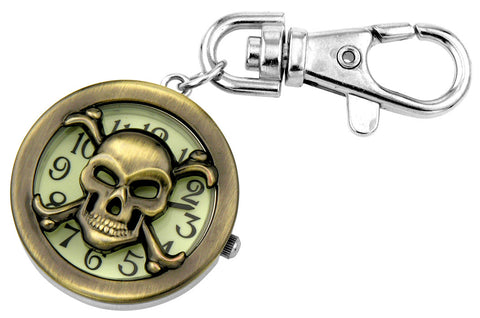 novelty fob watch - skull